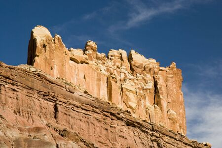 capital of colorado: view of sandstone formations along the scenic drive in Capital Reef National Park