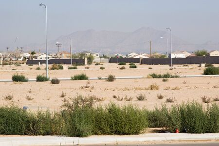 undeveloped lots in a residential housing development
