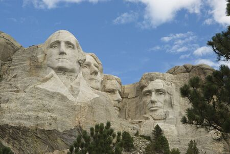 honest abe: close view of Mount Rushmore National Monument in the Black Hills of South Dakota. Editorial