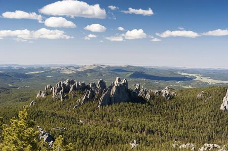 view of the Black Hills from the Harney Peak Trail