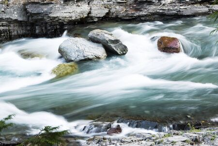 glacier national park: Rapids in McDonald Creek in Glacier National Park