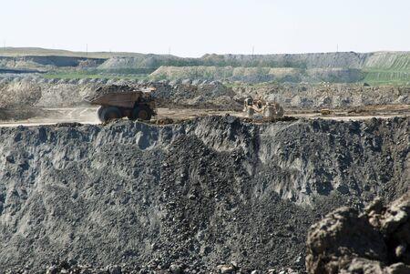 ワイオミング州の石炭の採掘事業 写真素材