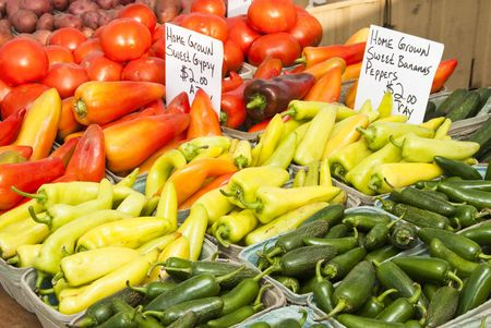 fresh vegetables at a farmers market in Minneapolis Stock Photo - 5597056