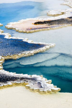 hot springs: abstract patterns in the thermal hot springs in Yellowstone National Park