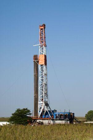 puits de petrole: un puits de p�trole forage au Texas