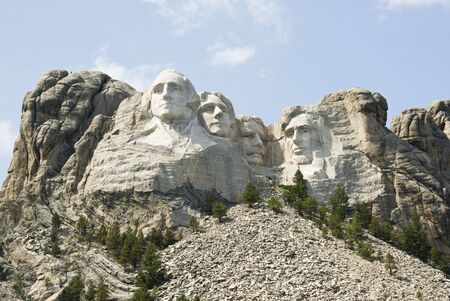 full view of Mount Rushmore National Monument in the Black Hills of South Dakota. Stock Photo - 5657094