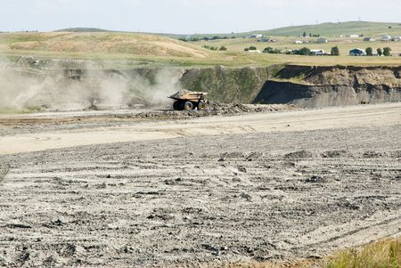 backfilling and topsoil restoration at a coal mine in Wyoming