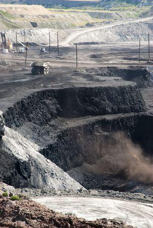 ワイオミング州の石炭の採掘事業 写真素材 - 5688270