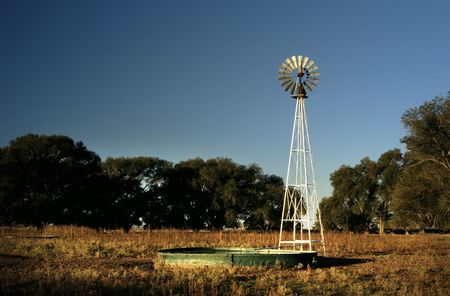 Windmill and stock tank.