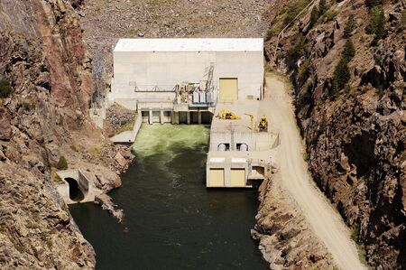 generating station: Hydroelectric dam and electric generating station on the Gunnison River in Colorado.
