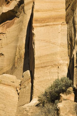 Natural patterns in the sandstone walls along the Fremont river in Capital Reef National Park in Utah, USA.