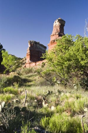 Lighthouse Peak in Palo Duro Canyon State Park in Texas. photo