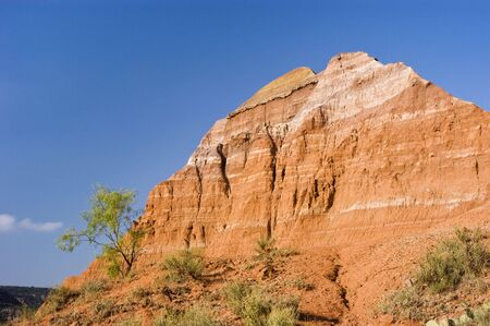 Sandstone formations in Palo Duro Canyon State Park in Texas. Reklamní fotografie