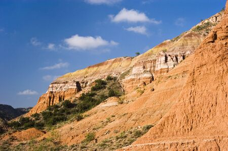 duro: Sandstone formations in Palo Duro Canyon State Park in Texas. Stock Photo