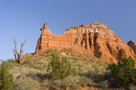 Capitol Peak in Palo Duro Canyon State Park in Texas. photo