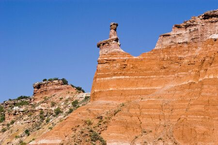 Hoodoo at Capitol Peak in Palo Duro Canyon State Park in Texas.