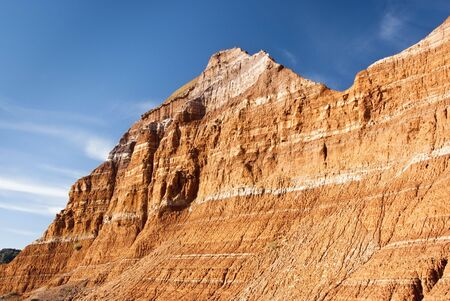rock strata: Sandstone formations in Palo Duro Canyon State Park in Texas. Stock Photo
