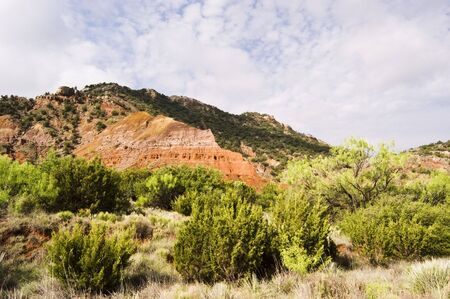 Sandstone formations in Palo Duro Canyon State Park in Texas. photo
