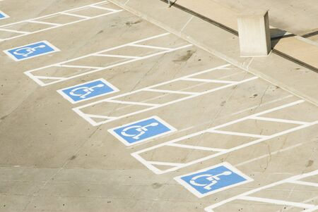 handicap parking spaces in a parking lot