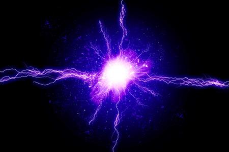 Blue energy light Standard-Bild