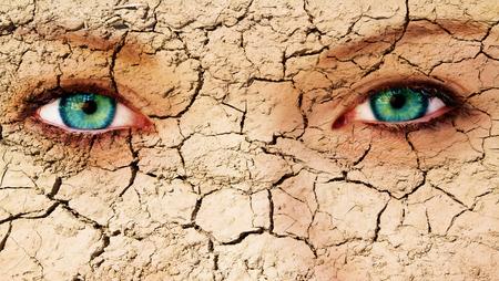 ojos tristes: La piel agrietada
