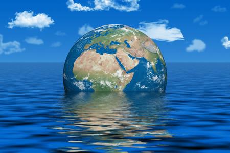 물에서 지구 스톡 콘텐츠