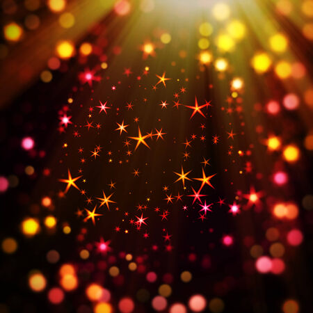 Colorful and magic bokeh background photo
