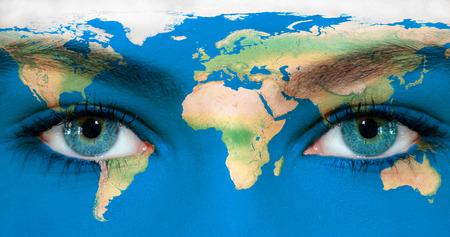 Earth eyes 스톡 콘텐츠