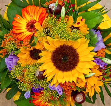 Bunte Blumen-Bouquet Standard-Bild - 32973695