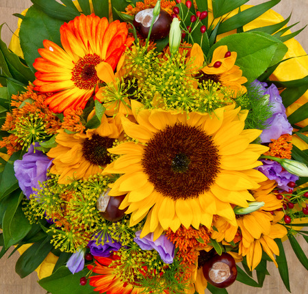 flowers bouquet: Colorful flower bouquet
