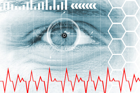 Modern, digital data eye
