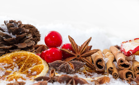 dried spice: Christmas decoration