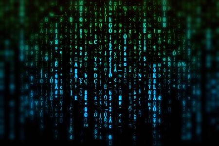 Blue, green matrix background