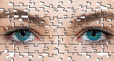 퍼즐 얼굴 스톡 콘텐츠