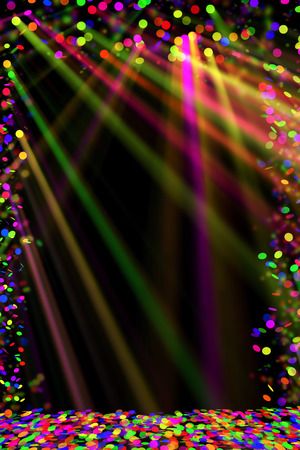 light rays: Party background Stock Photo