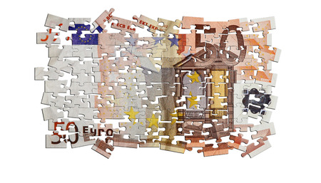 greek currency: 50 euro bank note puzzle
