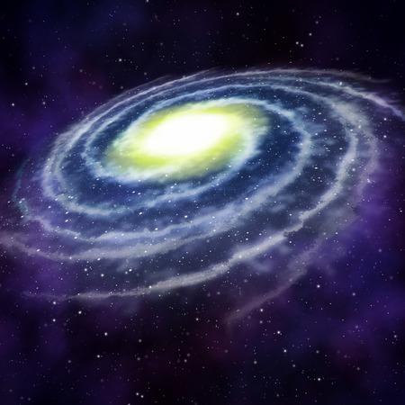 estrella de la vida: Galaxy en el espacio Foto de archivo