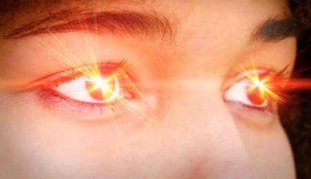 Laser eyes photo