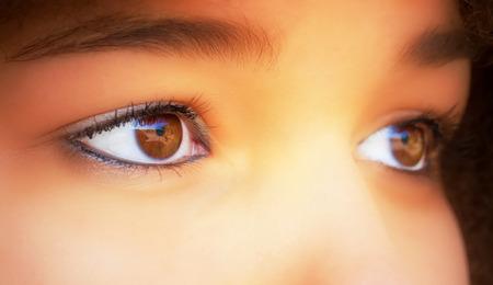 ojos cafes: Ojos marrones Foto de archivo