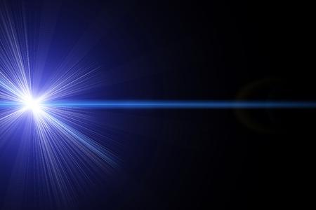 青色レーザー 写真素材
