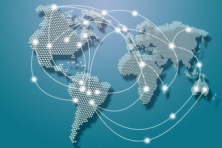 World wide network Standard-Bild