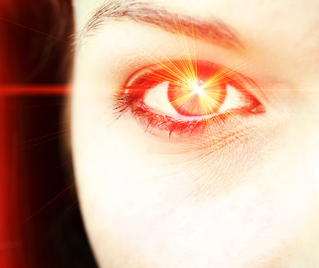 Laser eye photo