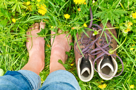 barefeet: Barefoot in nature