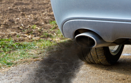 environment protection: Smoking exhaust pipe