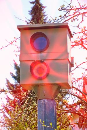 Traffic speed control Banco de Imagens