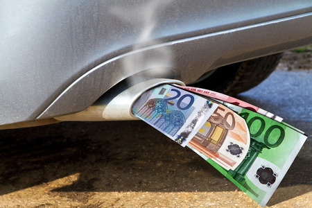 environment protection: Expensive car Stock Photo