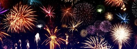 Colorful firework Archivio Fotografico