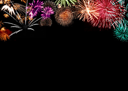 Colorful firework on black background 版權商用圖片 - 34788564