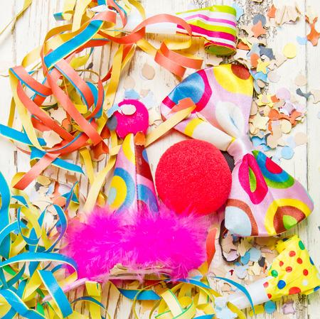 Accesorios coloridos del partido Foto de archivo - 36303935