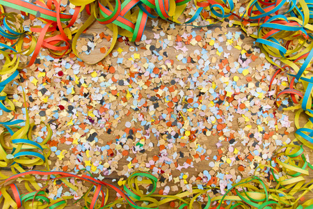 Happy and colorful party background with copy space Standard-Bild